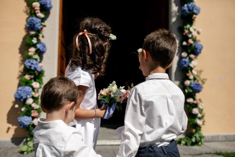 paggetti e damigelle corteo matrimonio