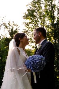 bouquet sposa ortensie fiori in movimento