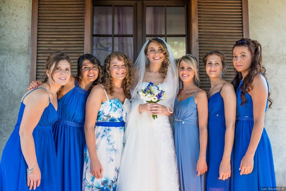 damigelle matrimonio blu